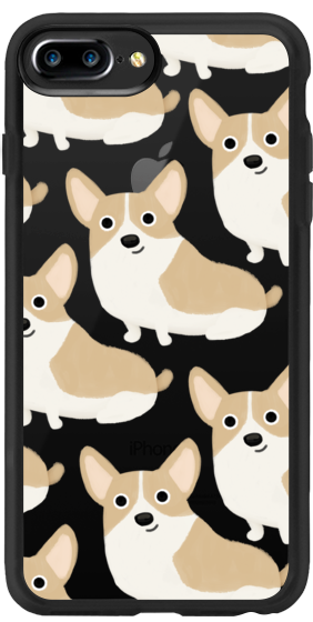 Casetify iPhone 7 Plus Classic Grip Case - Corgi Pattern by Cassandra Berger #Casetify