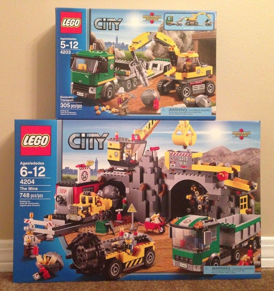 Lego City The Mine 4204 W Excavator Transport 4203 Retired Cuyes