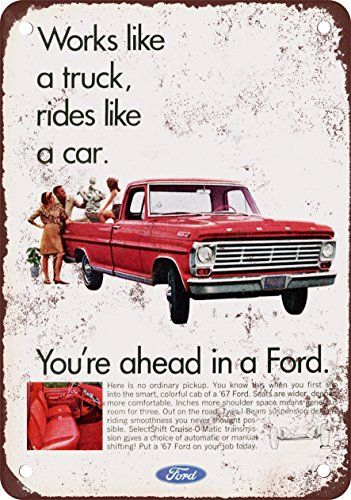 1967 Ford Pickup Trucks Vintage Look Reproduction Metal Sign 2