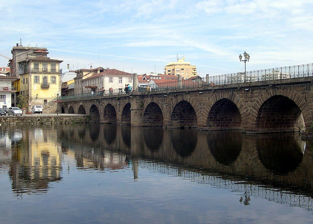 View of roman bridge in Chaves