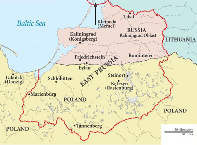 east prussia map Szukaj w Google
