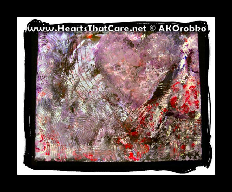"Scratching the Surface - Ready to hang acrylic artwork 20"" x 16"" stretched canvas by Dr. Angela Kowitz Orobko"