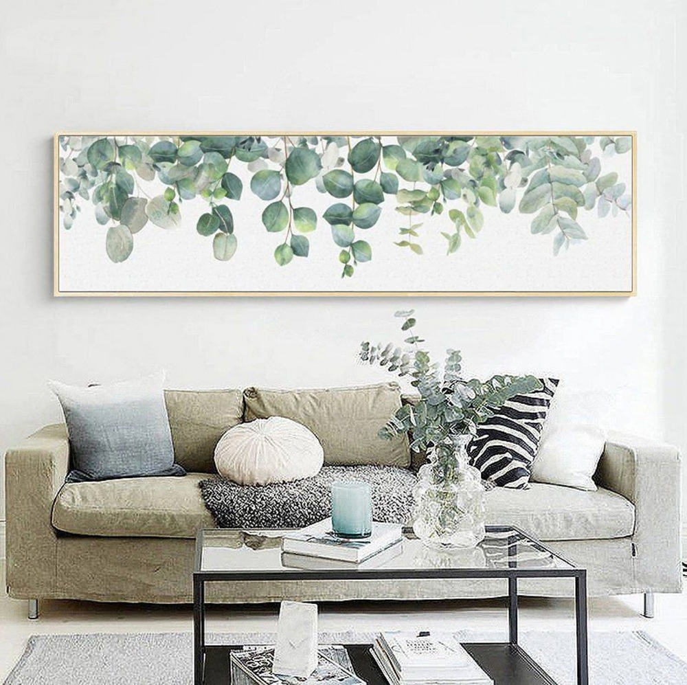 Eucalyptus Extra Large Wall Art Cactus Wall Art Greenery | Etsy | Hallway wall  art, Wall art living room, Large wall decor