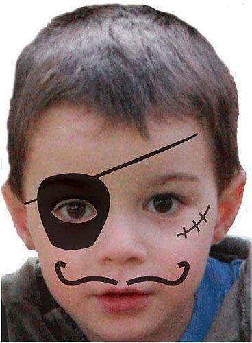 Kinderschminken Einfache Vorlagen Fur Karneval Kinder Schminken Kinderschminken Pirat Schminken Kinder