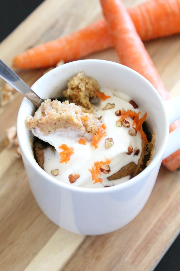 Easy Carrot Cake Mug Cake Recipe - Mildly Meandering