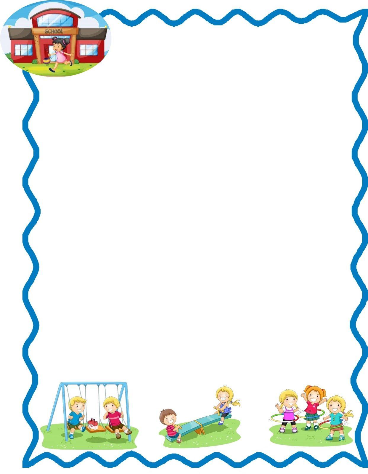 Marcos infantiles escolares para hojas imagui bordes for Paginas para hacer planos gratis