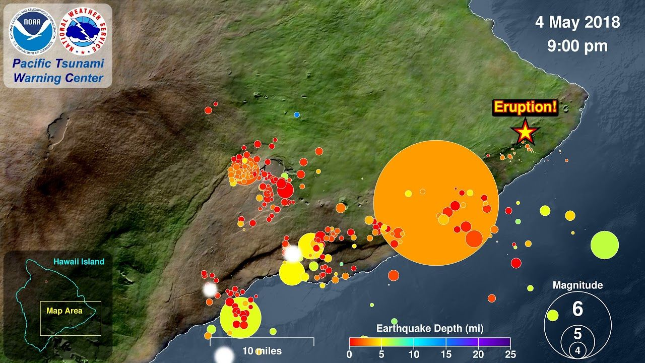 Kilauea Seismicity and Eruption 2018 Hawaii in 2018