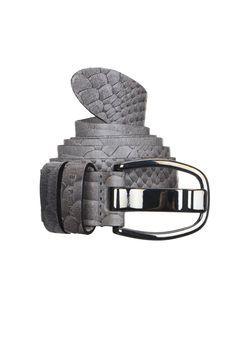 Esprit - Accessoire - Ceinture grise cuir reptile Martina  fa5f6d5da3f