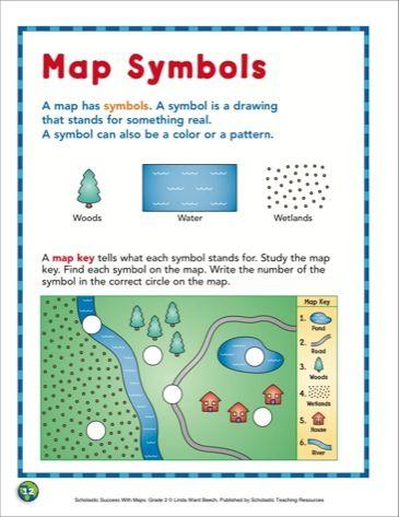 Map Symbols Grade 2 Skills Scholastic Printables Creating Map