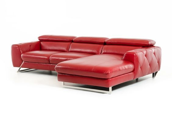 Leather sofa Red