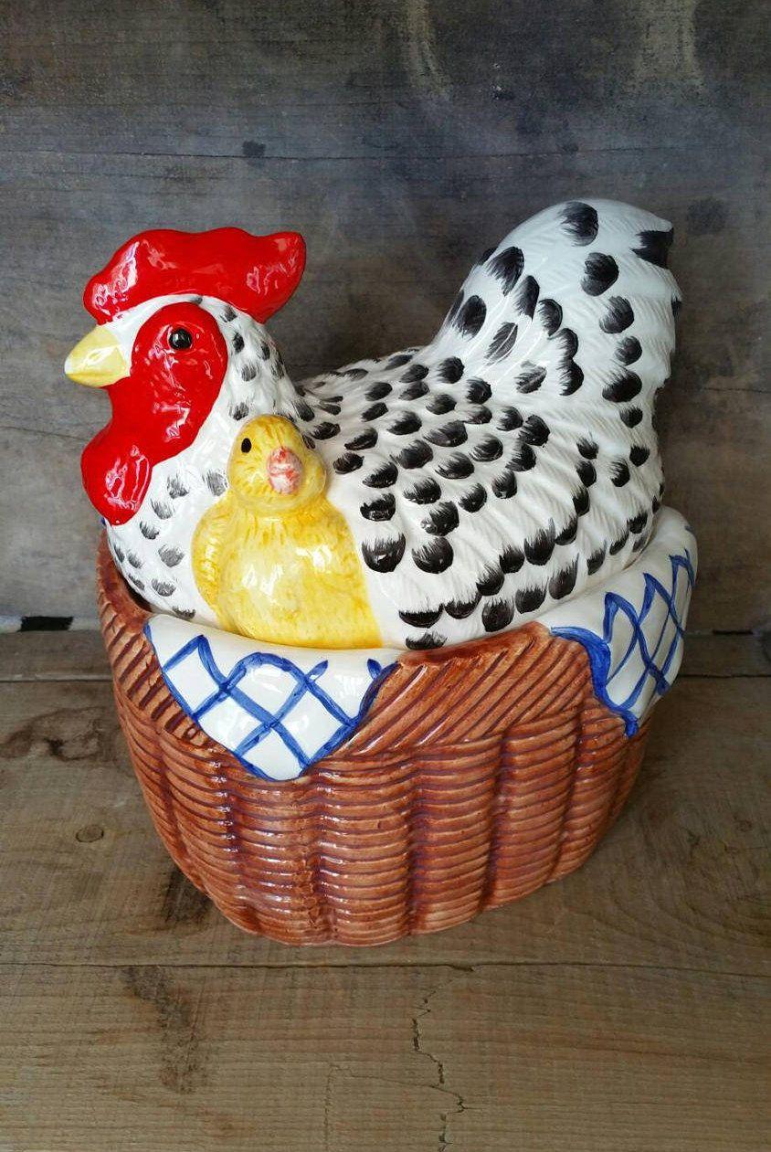 vintage chicken cookie jar