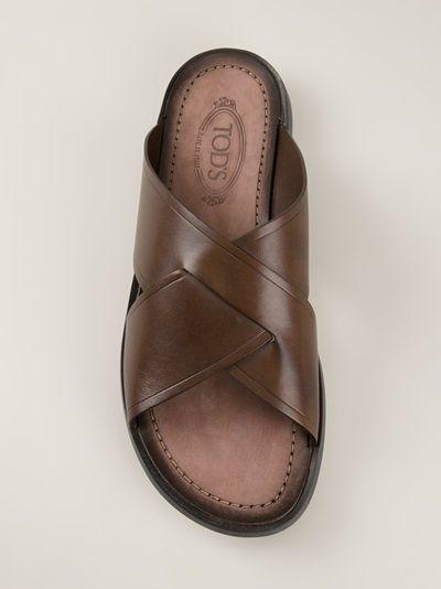 68cca29cb099 TOD S cross strap sandal