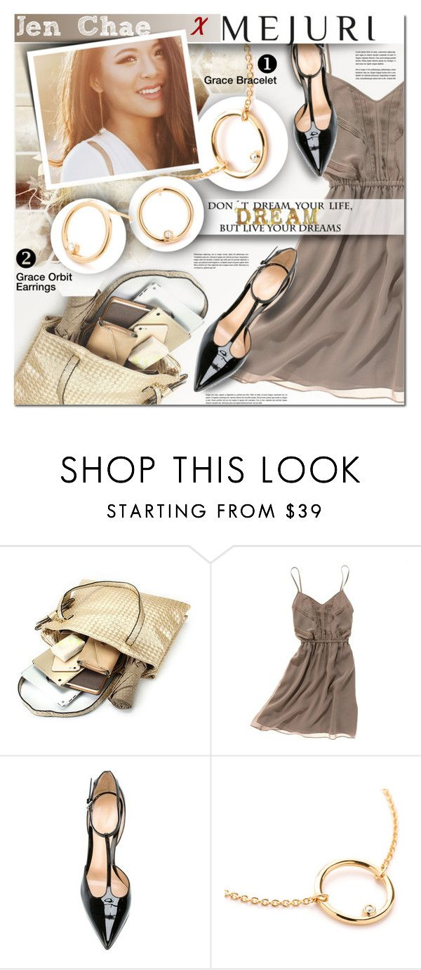 """""""Grace: Jen Chae x Mejuri"""" by barbarela11 ❤ liked on Polyvore featuring Madewell and Gianvito Rossi"""