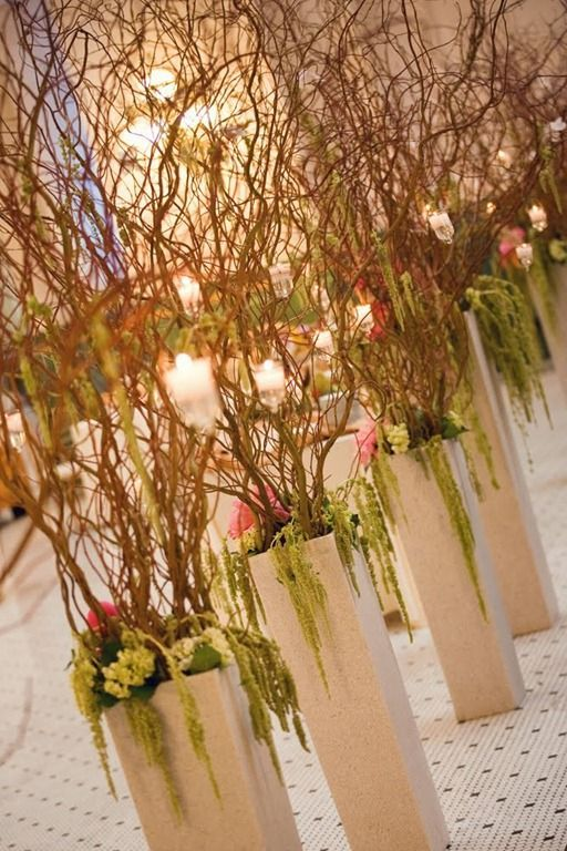 Curly Willow Trees Wedding Pinterest Wedding Ceremony Flowers Aisle Flowers Ceremony Flowers
