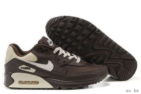 info for 6a86f de88a Cheap Original Nike Air Max 90 Mens Premium Trainers Brown And White Logo  Sneaker Outlet Sale Store