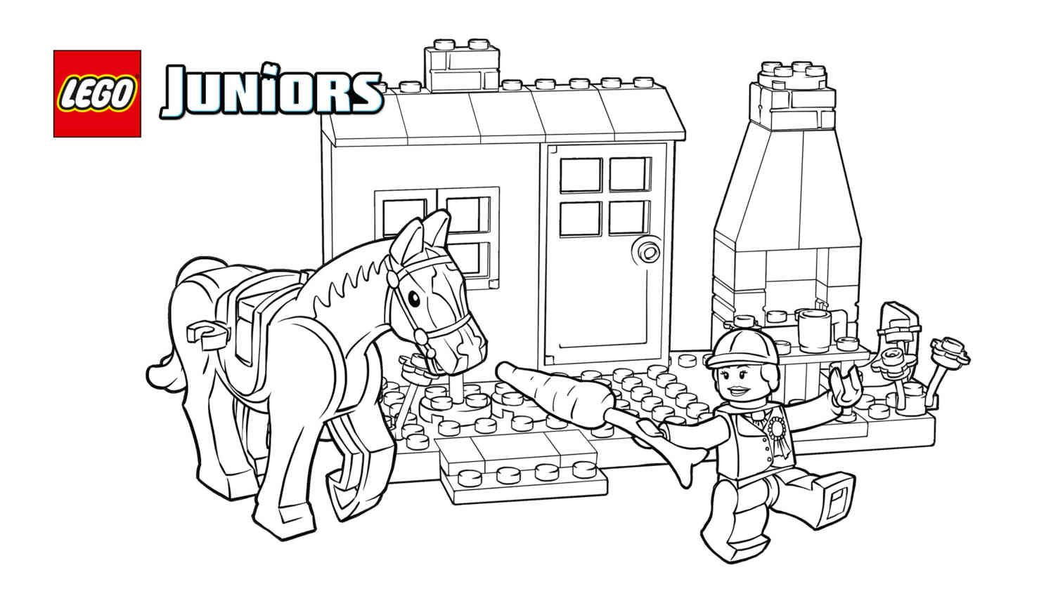 Lego Juniors Pony Stables Coloring Page Lego Coloring Pages