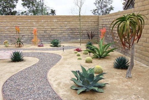 Desert Landscape Ideas | Desert Landscaping Ideas / Rock Pathway In  Xeroscape Garden Landscape Awesome Design