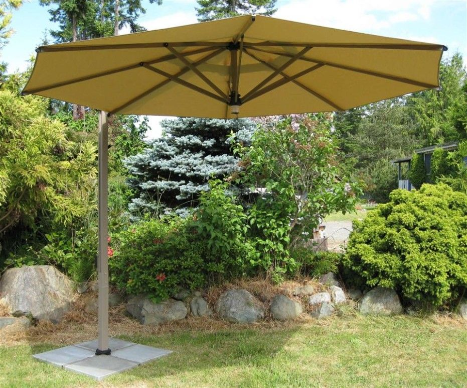 garden umbrella colors offer shady place inspiring large