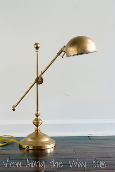 How To Use Rub N Buff To Make A Brass Lamp Look Like Expensive