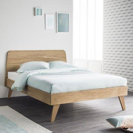 le lit oskar existe aussi en dimension 160 x 200 livr avec sommier ce lit est en chne massif avec un design contemporain et des matriaux nobles et - Lit 160x200 Avec Sommier