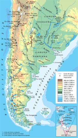 Relieve De Argentina Png 267 471 Mapa De Argentina Relieve De Argentina Argentina