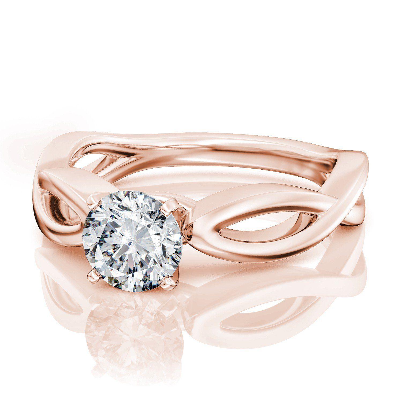 Pretty Jewellery 1 Ct Simulated Diamond Infinity Solitaire