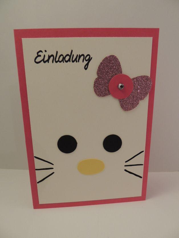kindergeburtstag mädchen katze, Kreative einladungen