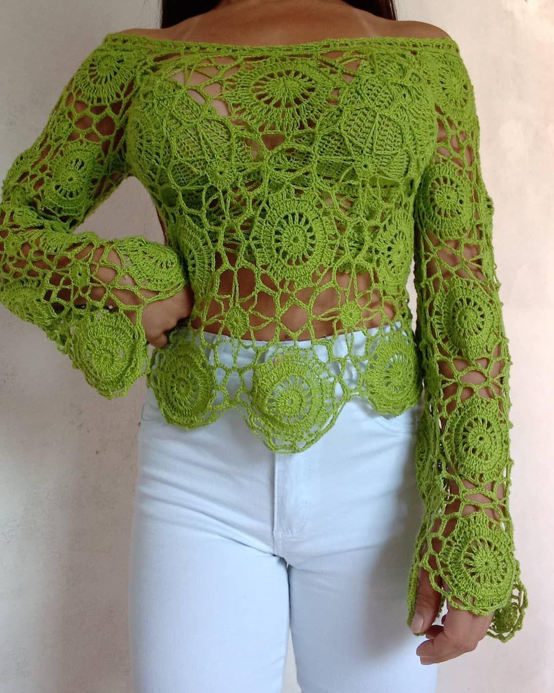 Blusa De Frio Feminina Aninka Em Croche Com Imagens Blusa De