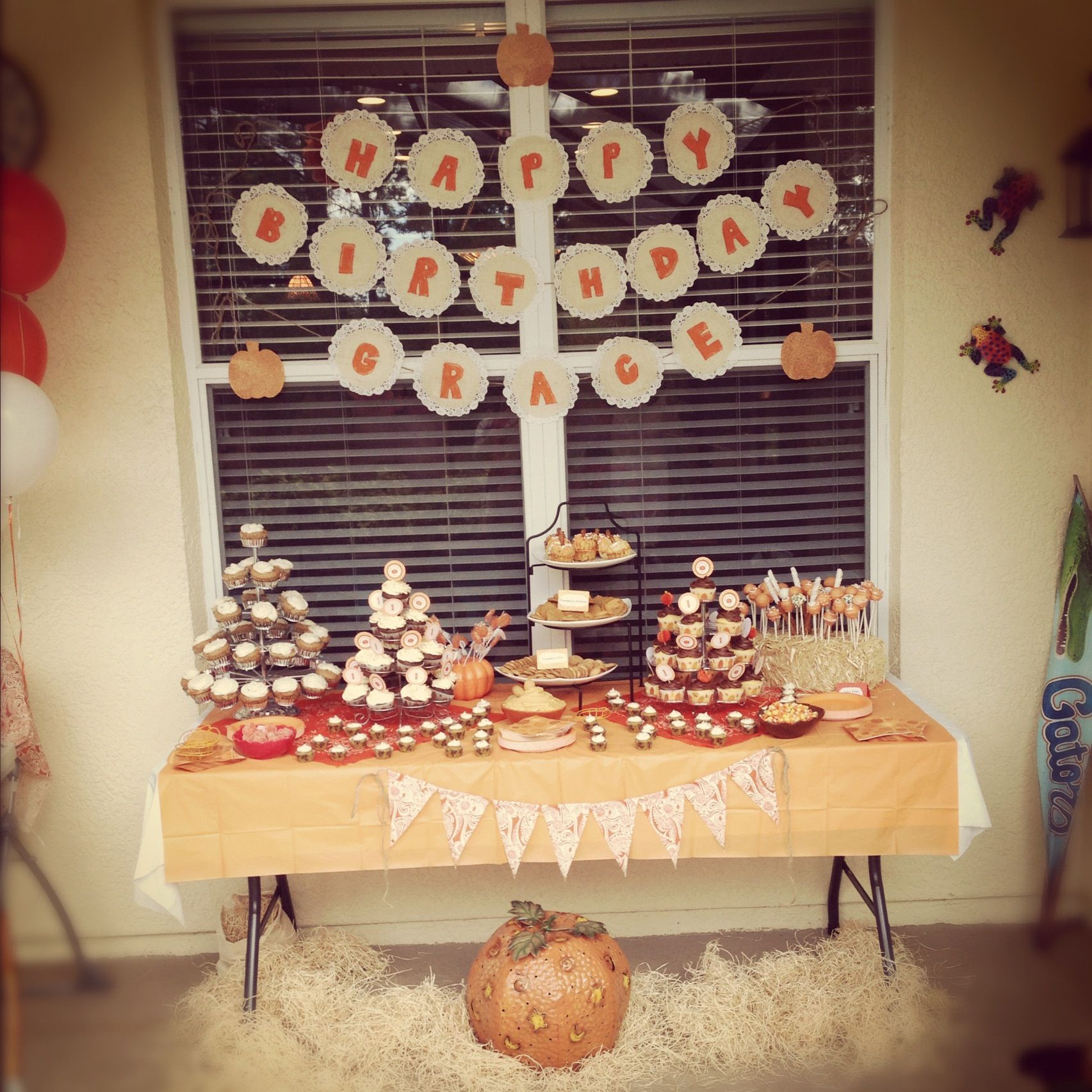 """""""My Little Pumpkin"""" Themed Party For November Babies"""