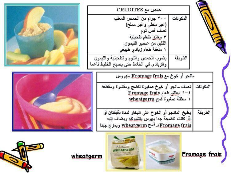 طعام البيبي Baby Food Recipes Baby Information Kids Education