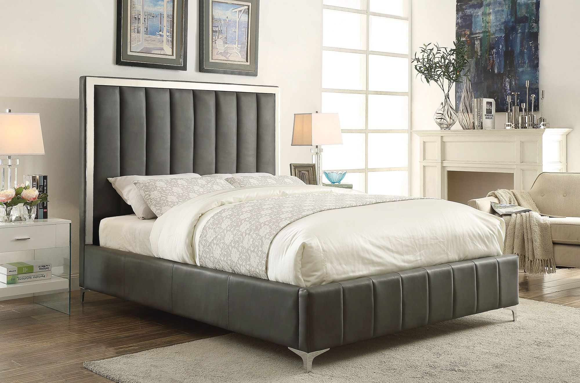 bling game collection 300637q queen bed frame queen beds bed