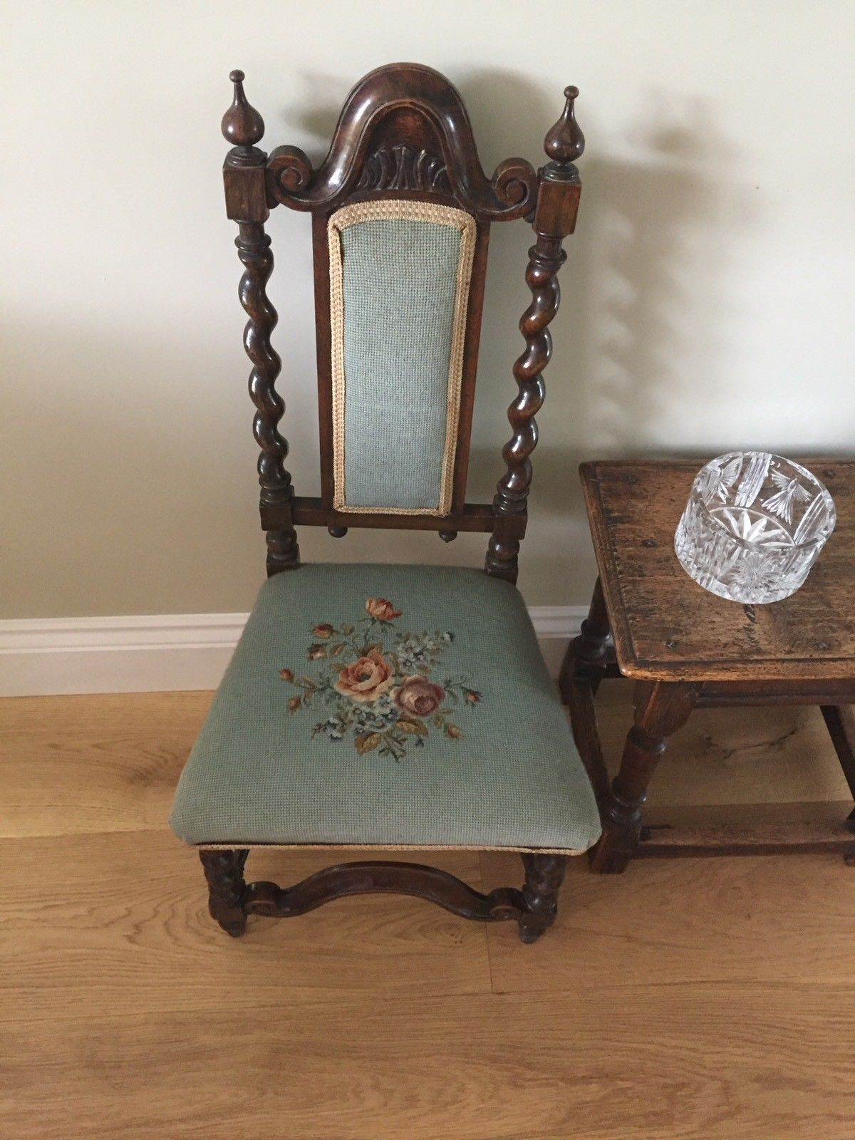 A Victorian Child s Chair With Barley Twist Decoration