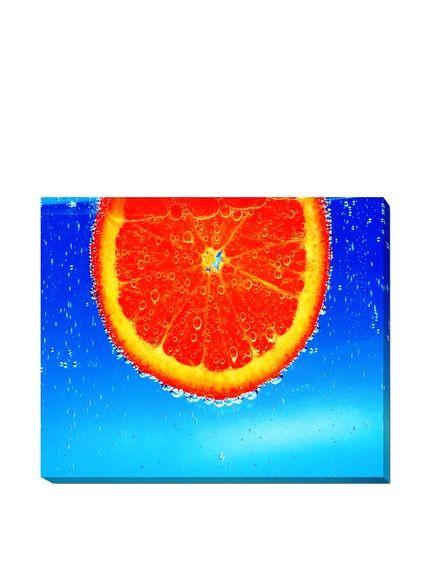 """Russ Sexton """"Orange Slice, Blue"""" Weather-Resistant Canvas Print, http://www.myhabit.com/redirect/ref=qd_sw_dp_pi_li?url=http%3A%2F%2Fwww.myhabit.com%2Fdp%2FB010MTLGAQ%3F"""