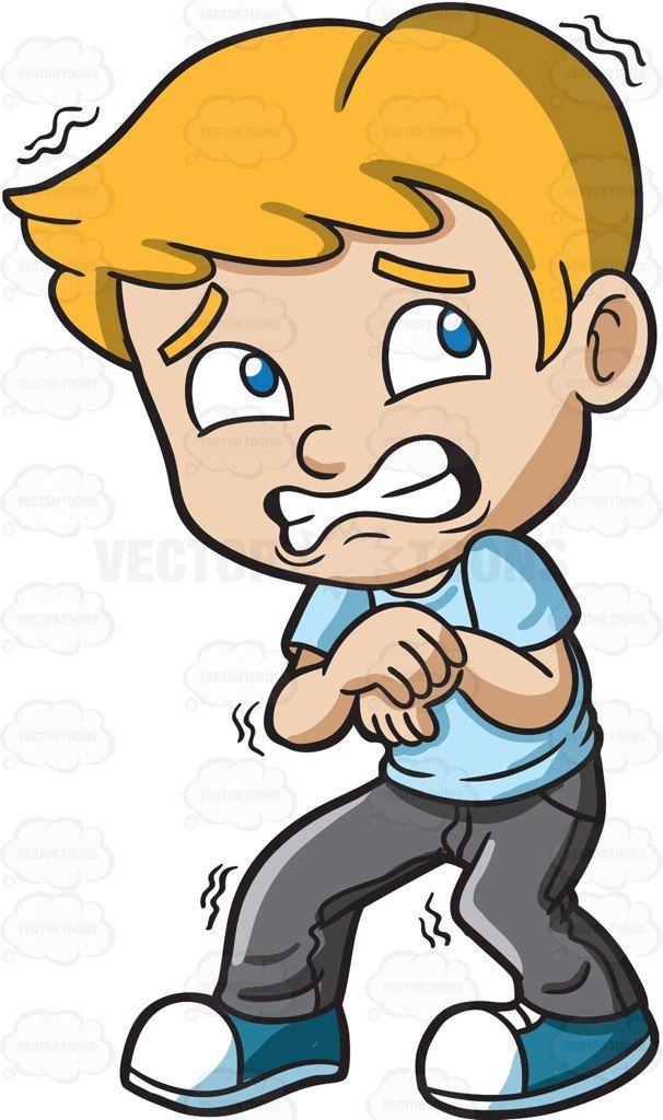 A terrified young boy #cartoon #clipart #vector # ...
