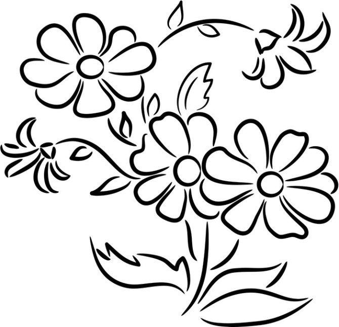 Dibujos De Flores Para Pintar Y Colorear | pintar | Flowers, Flower ...