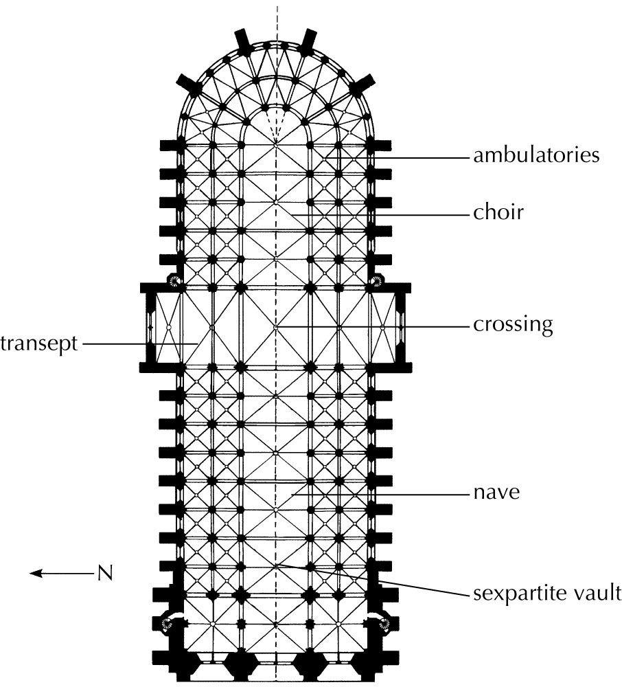 Plan Notre Dame Paris 1163 1250 6 Part Vaulting