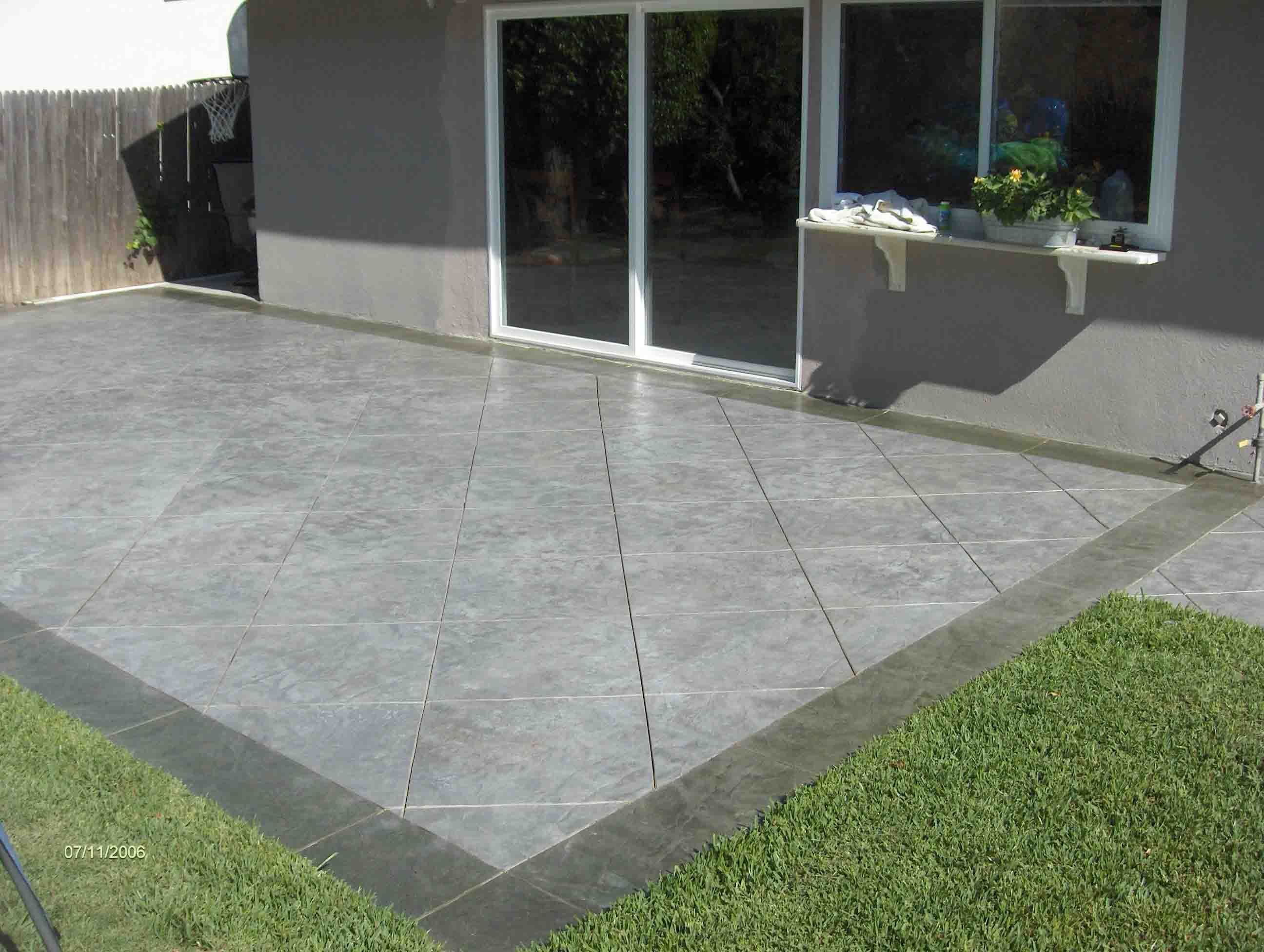 decorative concrete resurface driveway impressive front yard