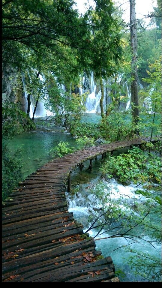 Plitvice lakes, croatia. Taken on a rainy day but still.....not bad!!