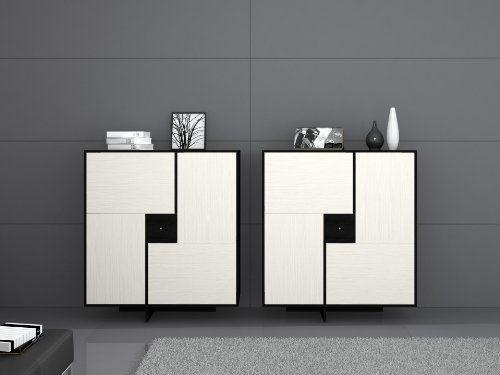 Miraseo MYHHSC106W Gene Sideboard, hochwertige Anrichte - wohnzimmer design schwarz