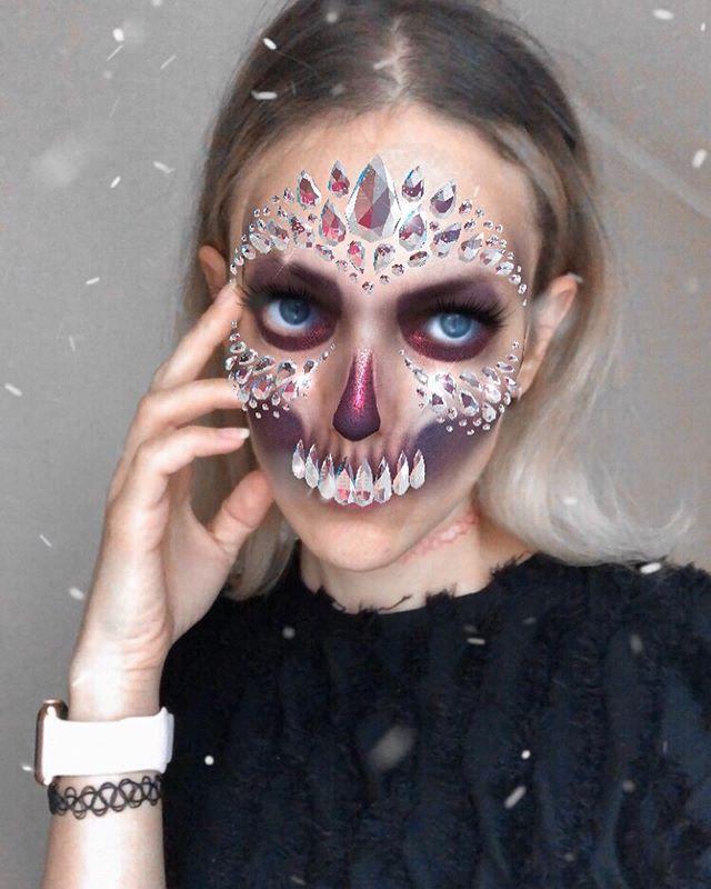 Olga Gif Art Filters Olgakhatkovskaya Fotos Y Videos De Instagram Halloween Face Halloween Face Makeup Face Makeup