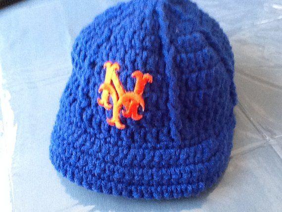 96d6347da0f NY METS Newborn Crochet Baseball Cap - Photographer Prop Hand Crochet