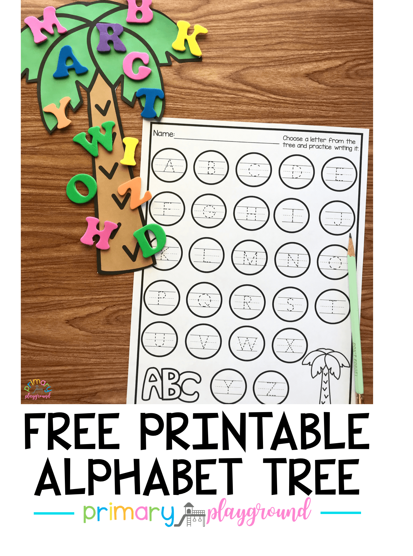 Free Printable Alphabet Tree Center | Pinterest