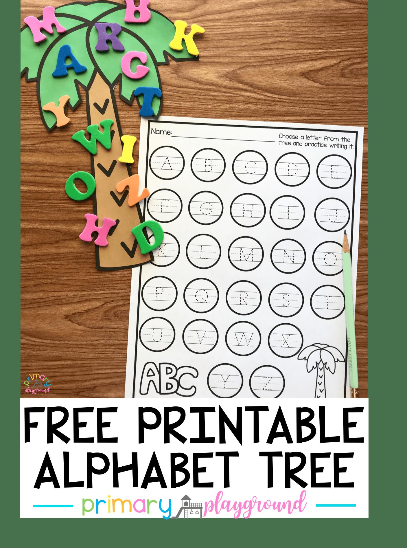 Free Printable Alphabet Tree Center