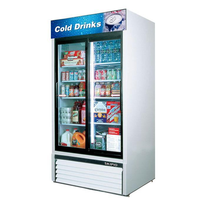 Skipio 812L Sliding Door Upright Fridge SGM35S Sliding