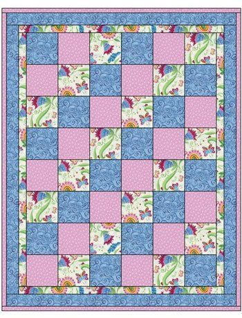 Quilt Patterns With 3 Fabrics Google Search Quilts Pinterest