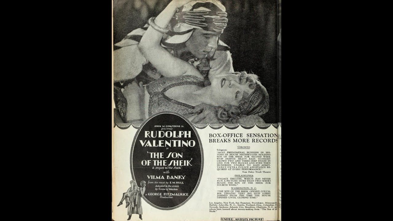 Scott Lord Silent Film: Rudolph Valentino in Son of the Sheik (Fitzmaurice, 1926)