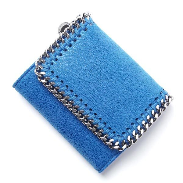 44415d6572cf 2017新作 Stella McCartney ステラマッカートニー コピー FALABELLA BLUE三つ折り財布 サイズ:縦10