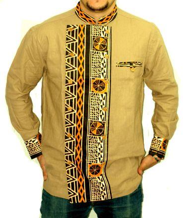 belle chemise en lin et en tissu imprimé africain,lin de couleur ...
