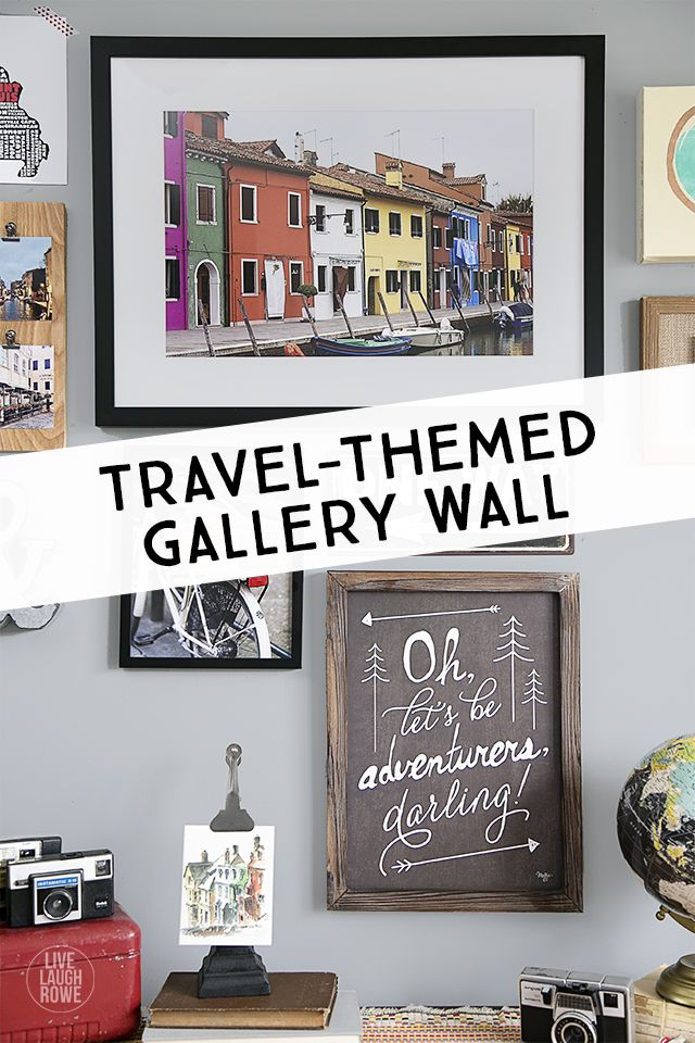 What A Great Way To Display Your Travel Experiences Themed Gallery Wall