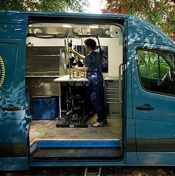 Repined Mobile Grooming Unit Dog Grooming Salons Dog Grooming Dog Groomers